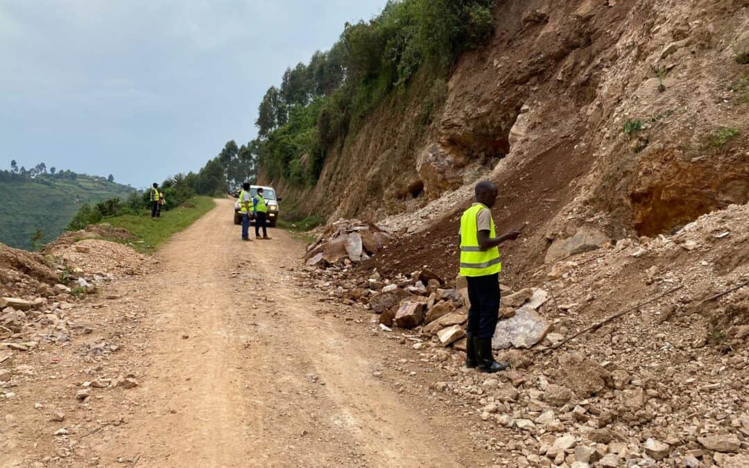 Turistväg i Uganda