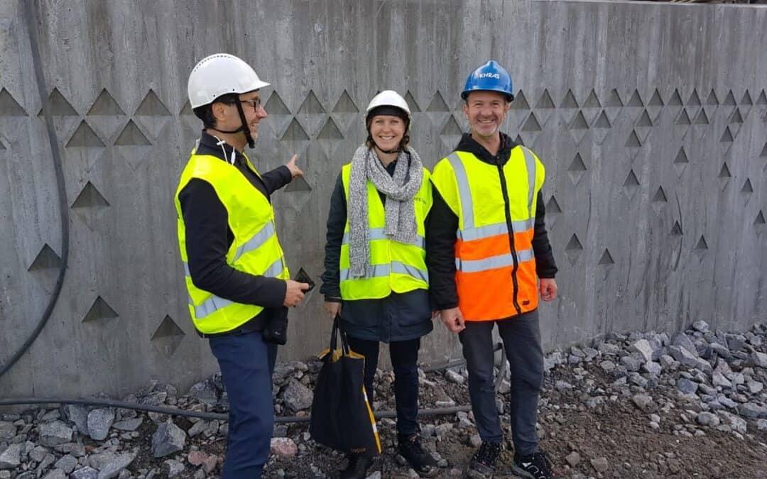 Besök på byggplatsen Tvärbanan Kistagrenen