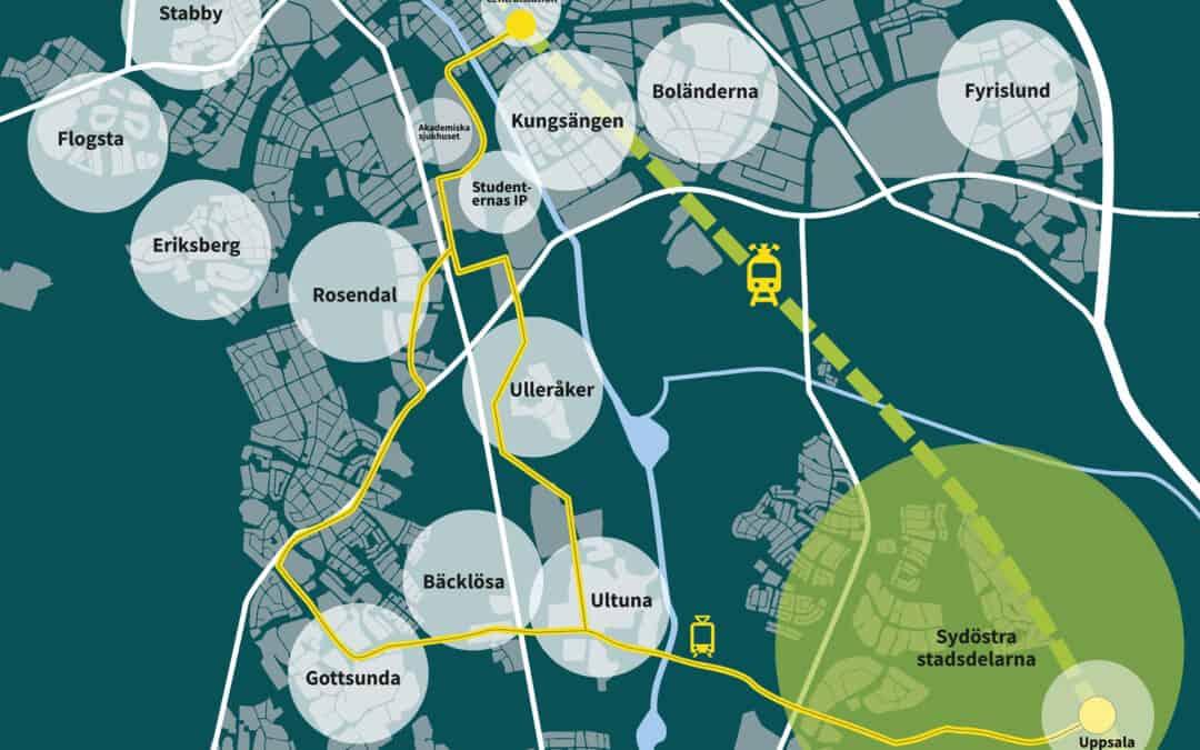 Vi gör programhandling för spårväg i Uppsala